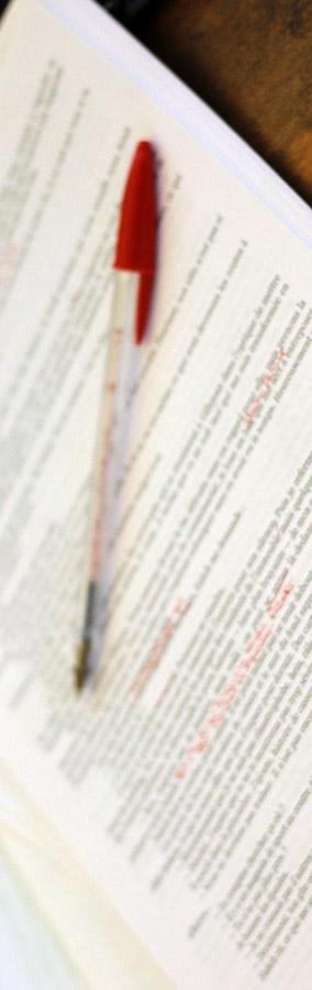 Corrections (floues) au stylo rouge