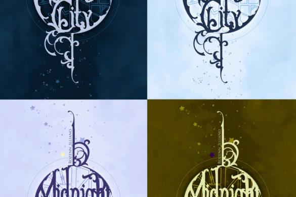 4 couvertures du roman Midnight City, avec des couleurs différentes